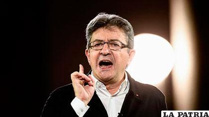 Jean-Luc Mélenchon, líder de la izquierda radical francesa