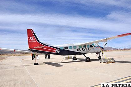 Avión explorador cumplió el 20% de su itinerario