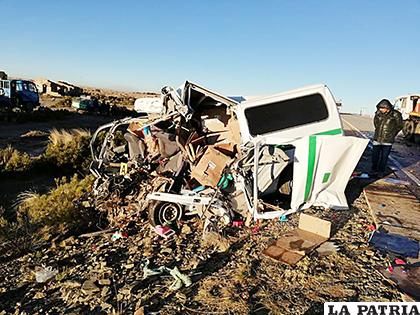 Ambos motorizados resultaron con daños considerables