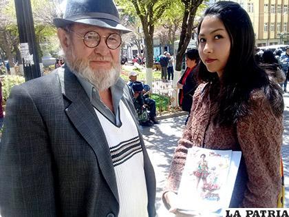 Jorge Vargas y Mishell Aráoz del Centro Cultural Supay /LA PATRIA