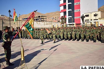 Ayer rindieron homenaje al soldado boliviano /LA PATRIA