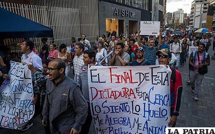 Cientos de trabajadores venezolanos se concentraron en la protesta /METRO Nicaragua
