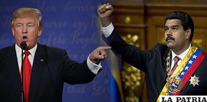 Los presidentes Donald Trump (izq) y Nicolás Maduro/ El venezolano