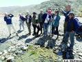 Estudiantes de Bélgica constataron problemática ambiental de Oruro