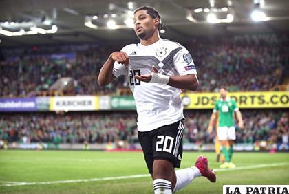 Gnabry anotó el segundo de Alemania que venció 2-0 a Irlanda /posta.com