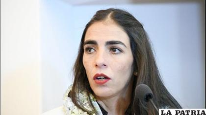 La ministra de Salud, Gabriela Montaño /EL DEBER