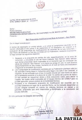La carta del alcalde Revilla /ANF