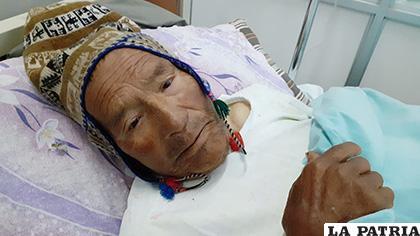 Sabino Chocotea Callejo de 78 años se encuentra hospitalizado /LA PATRIA