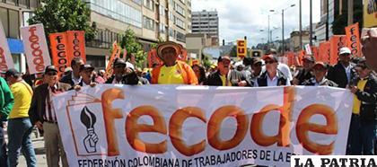 La Federación Colombiana de Trabajadores de la Educación (Fecode) /EJE 21