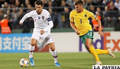 Portugal de la mano de Cristiano vence de visita a Lituania 5-1 /trome.pe