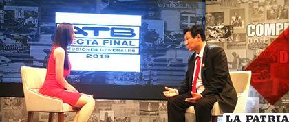 El candidato a la presidencia del PDC causó polémica en la entrevista de televisión /ATB