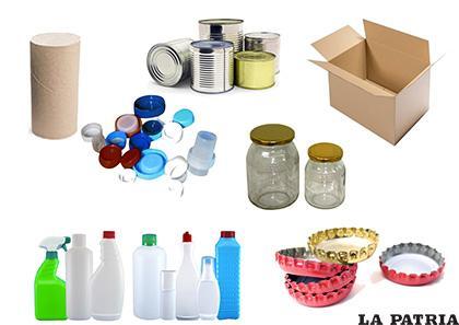 Existen muchos tipos de material para reciclar y reutilizar