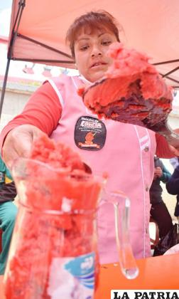 El helado de canela es patrimonio orureño /Reynaldo Bellota /LA PATRIA