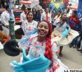 La saya afroboliviana mostró todo  su esplendor en la Capital del Folklore