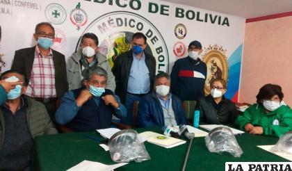 Comunicación del Colegio Médico de La Paz /erbol.com