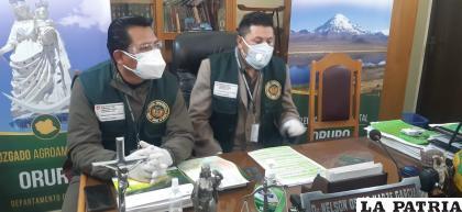 Autoridades del Tribunal Agroambiental informaron que el trabajo de sus oficinas es normal /LA PATRIA