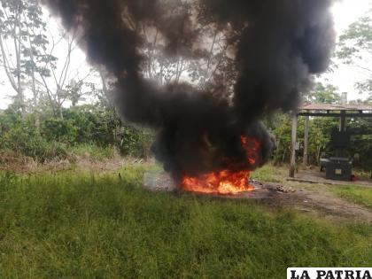 Las factorías fueron incineradas en el lugar donde fueron encontradas /Felcn