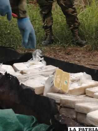 La cocaína pasó por la prueba de campo /Felcn