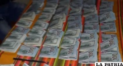 El dinero fue expuesto tras ser secuestrado /Todo Noticias