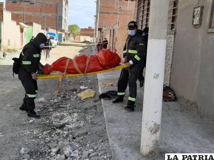 El cuerpo fue trasladado hasta la morgue del Cementerio General /LA PATRIA