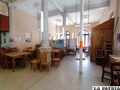 Biblioteca Municipal de Oruro, vacía por no cumplir aún con las condiciones de bioseguridad necesarias /LA PATRIA