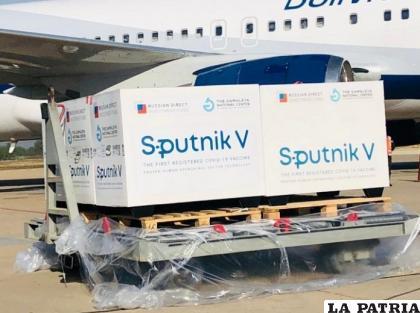 Un nuevo lote de vacunas Sputnik arriba al país /ARCHIVO MIN. DE SALUD