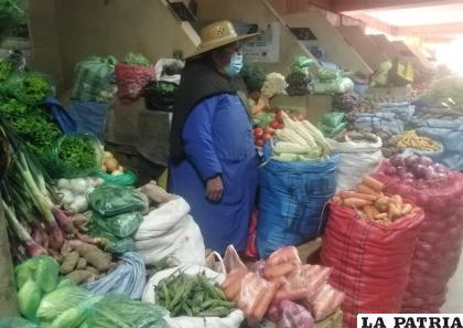 Se mantiene el precio de las verduras en el Campero y el Bolívar