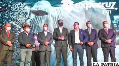 La Expocruz tuvo la presencia del primer mandatario del país /BRÚJULA DIGITAL
