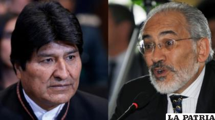 Los expresidentes de Bolivia, Evo Morales y Carlos Mesa /Archivo ANF
