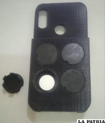 Así se ve la carcasa del celular /LA PATRIA