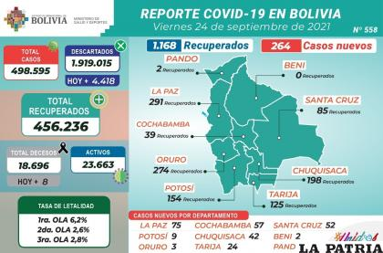 Los decesos disminuyeron ostensiblemente en el país /MINISTERIO DE SALUD