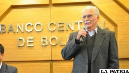 El expresidente del Banco Central de Bolivia, Pablo Ramos /ARCHIVO BCB