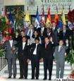 Fotografía oficial de la Cumbre de la ALBA realizada en Cochabamba, Bolivia