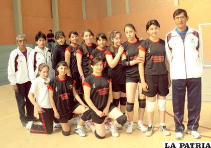 El equipo de Alemán de Oruro antes de su primer encuentro