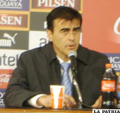 Quinteros se mostró optimista en la conferencia de prensa