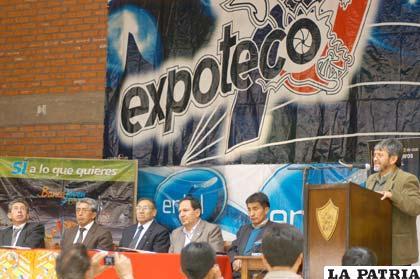 Expoteco inicia actividades anunciaron las autoridades de la UTO