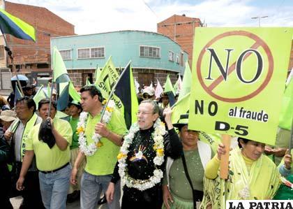 Cierre de campaña del MSM por el voto NO