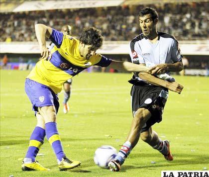 Del partido Boca ante Belgrano