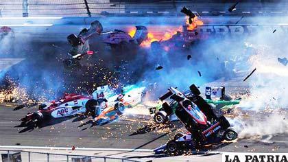 La imagen trágica del accidente
