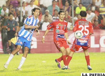 Una acción del partido jugado en Montero
