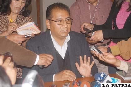 Santos Tito dispuesto a acatar determinaciones en defensa del territorio orureño