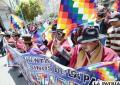 Marcha a favor del Gobierno de Morales fue abucheada por transeúntes que repudian la violencia en el Tipnis
