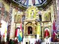 Retablo restaurado de la Capilla Sixtina de Curahuara de Carangas