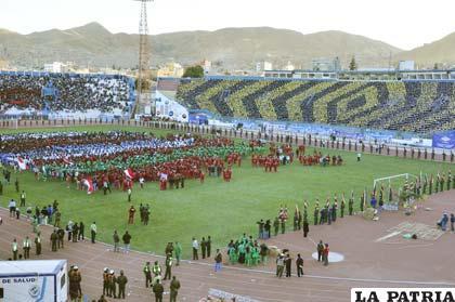 Vista panorámica durante la inauguración de los Juegos Estudiantiles