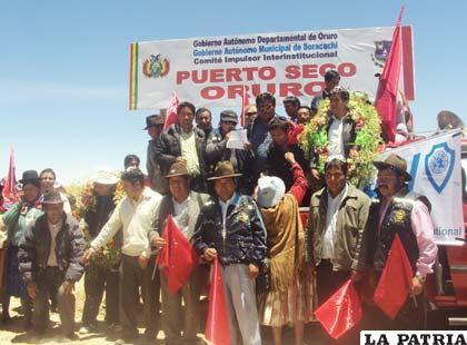 Organizaciones sociales dan plazo de un mes a la Gobernación para empezar ejecución del Puerto Seco