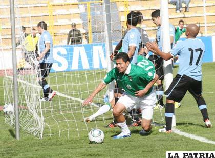 Saucedo anota el primer gol del partido a los 5 minutos del partido (foto: APG)