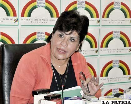 Marlene Ardaya presidenta interina de la Aduana (ABI)