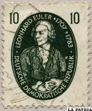 Estampilla alemana con la imagen de Euler