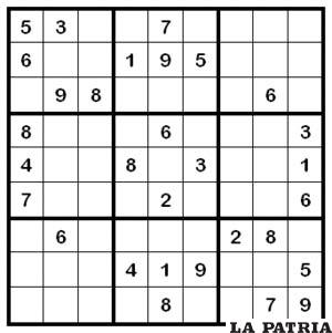 El popular juego conocido como sudoku