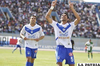 Carlos Tordoya anotó el primer gol del partido